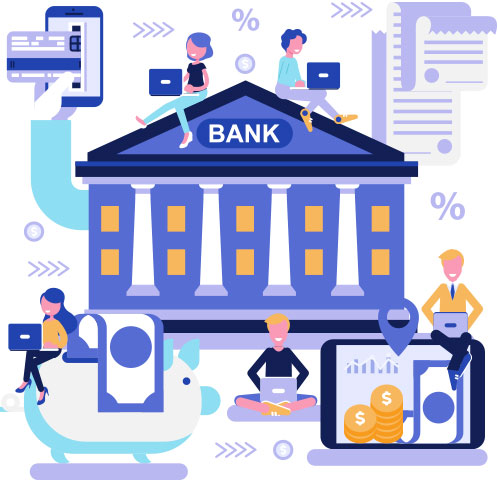 Bank5 Open an account Illustration